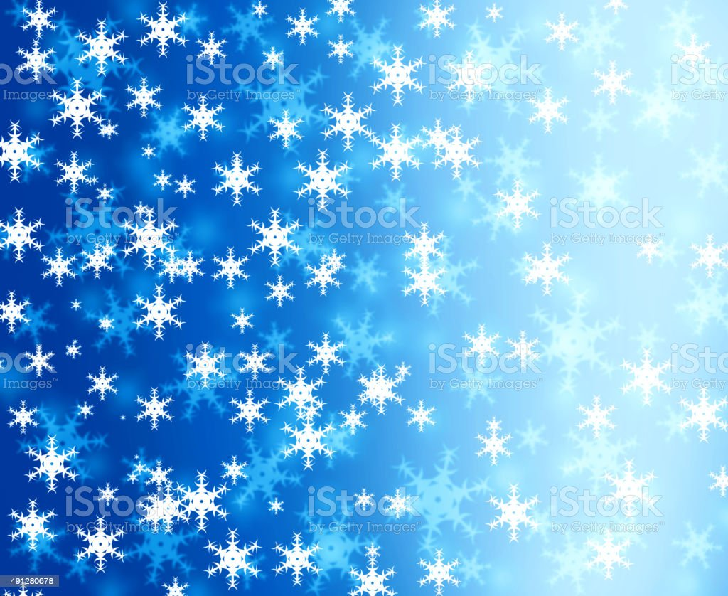 Christmas Snow Flake background vector art illustration