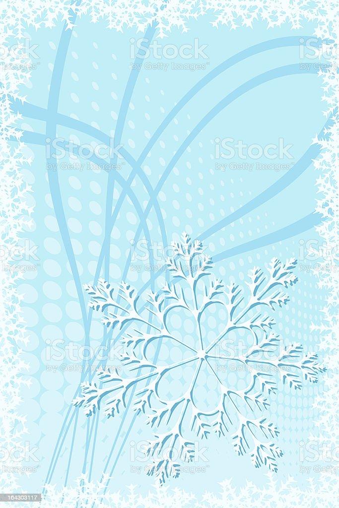 Christmas Snowflake Decoration royalty-free stock vector art