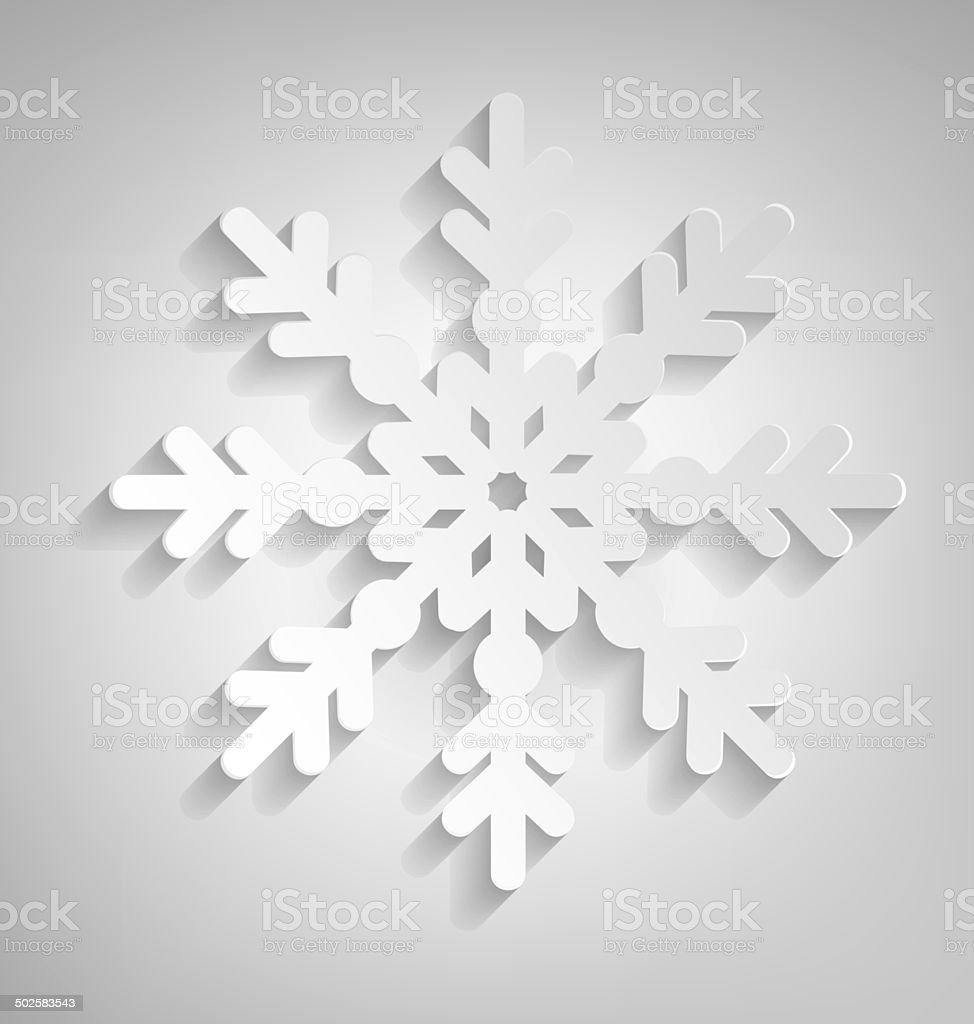 Christmas Snowflake vector art illustration