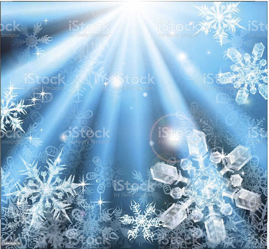 Christmas snowflakes background vector art illustration
