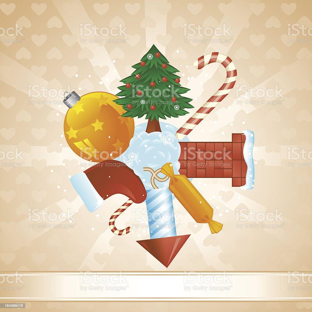 Christmas sphere card royalty-free stock vector art