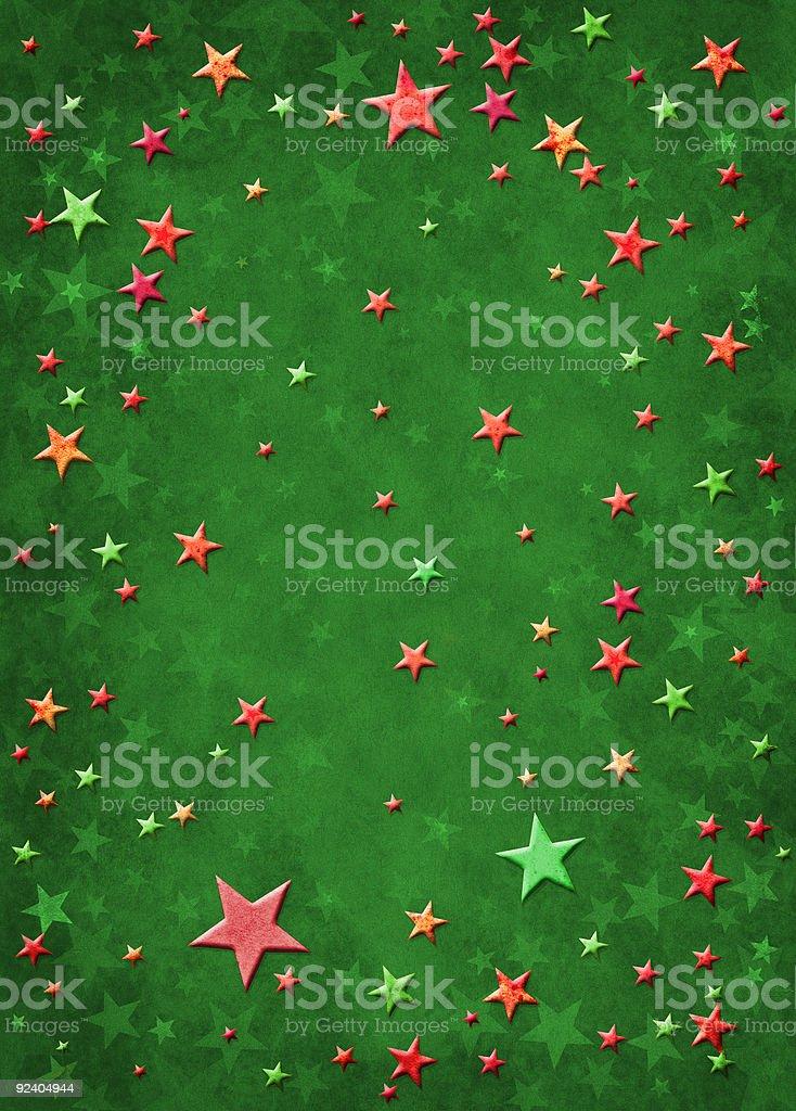 3D Christmas Stars royalty-free stock vector art