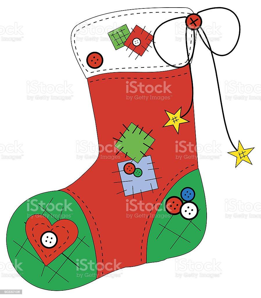 Christmas Stocking royalty-free stock vector art