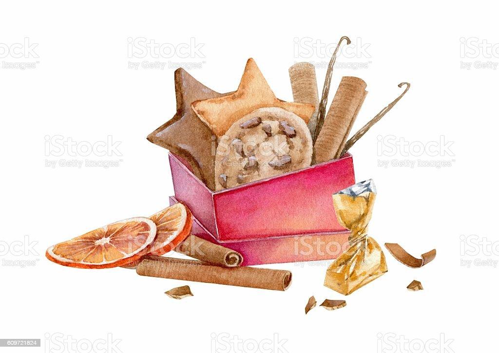 Boże Narodzenie cukierki stockowa ilustracja wektorowa royalty-free