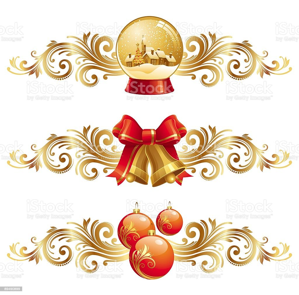 Christmas symbols with ornament royalty-free stock vector art