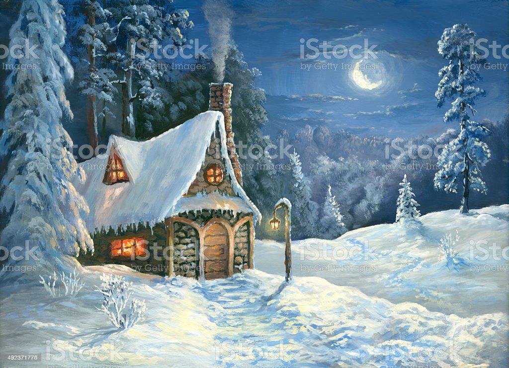 Christmas tale vector art illustration