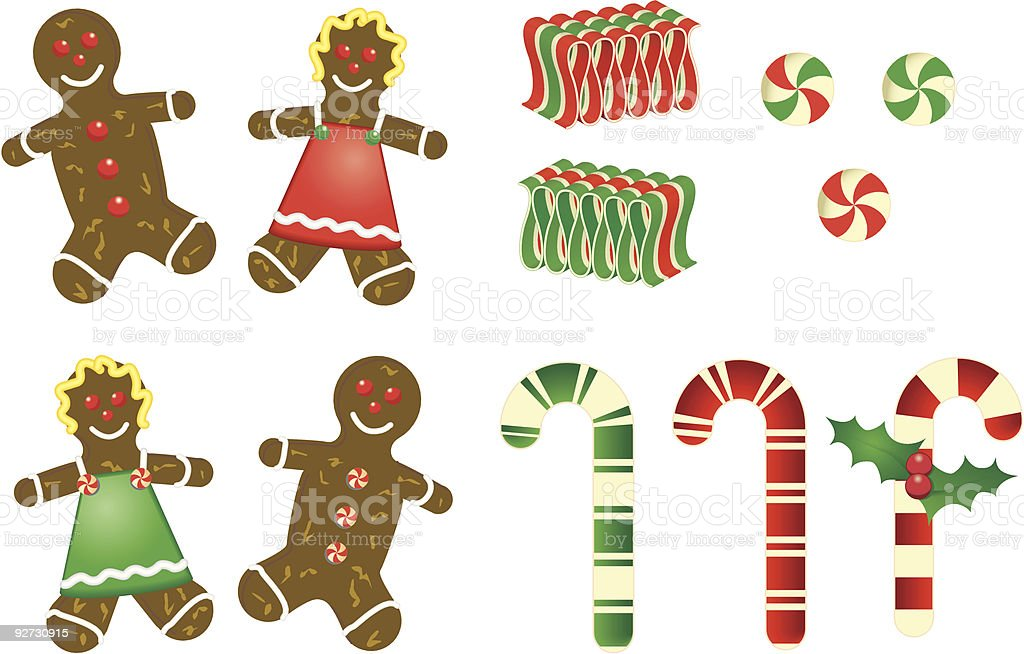 Christmas treats vector art illustration
