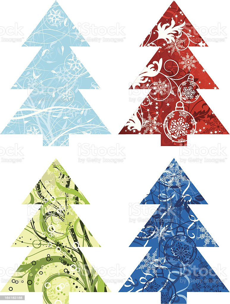 Christmas tree backgrounds royalty-free stock vector art