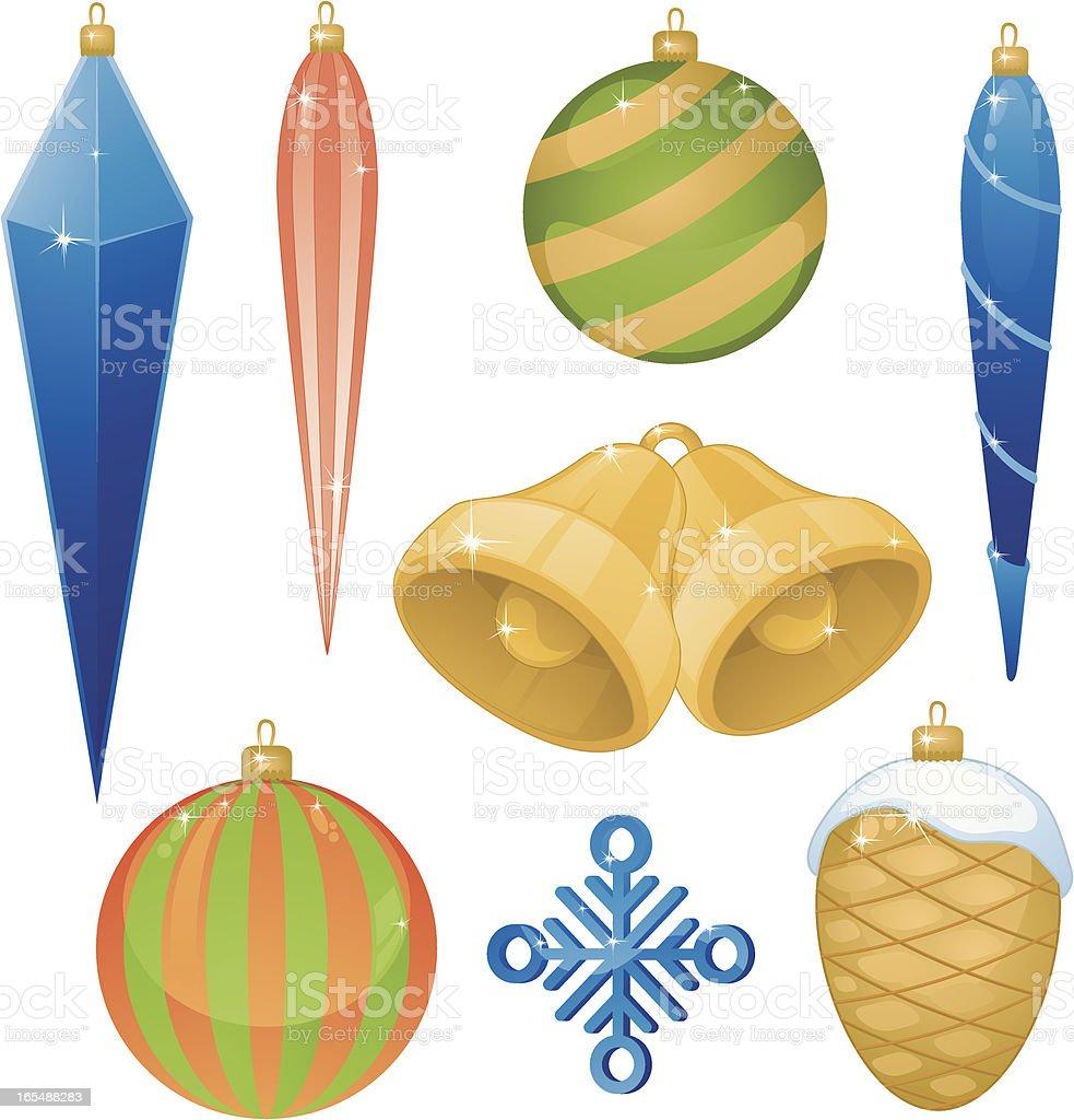 Christmas Tree Decorations vector art illustration