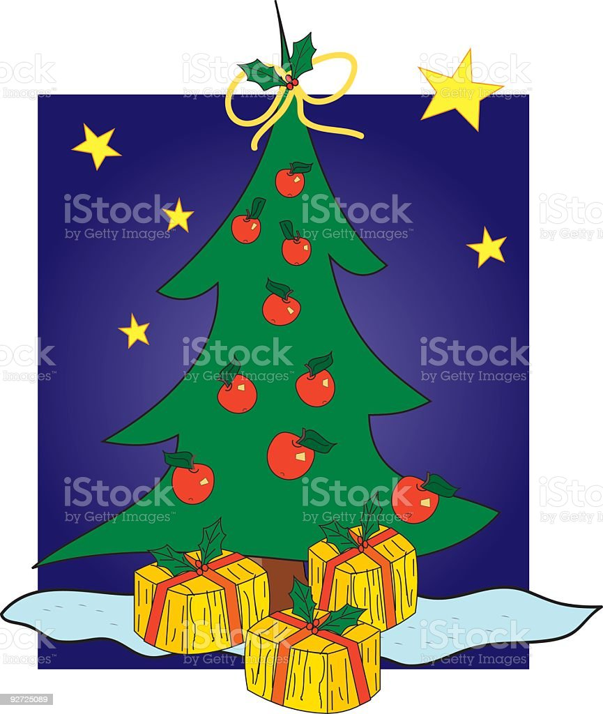 Christmas Tree for Rudolph royalty-free stock vector art