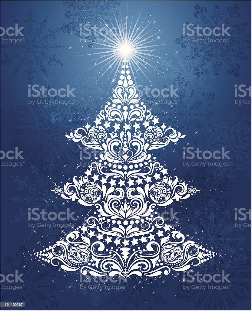 Christmas tree. royalty-free stock vector art