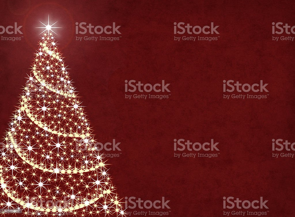 Christmas tree lights with a red background royalty-free stock vector art