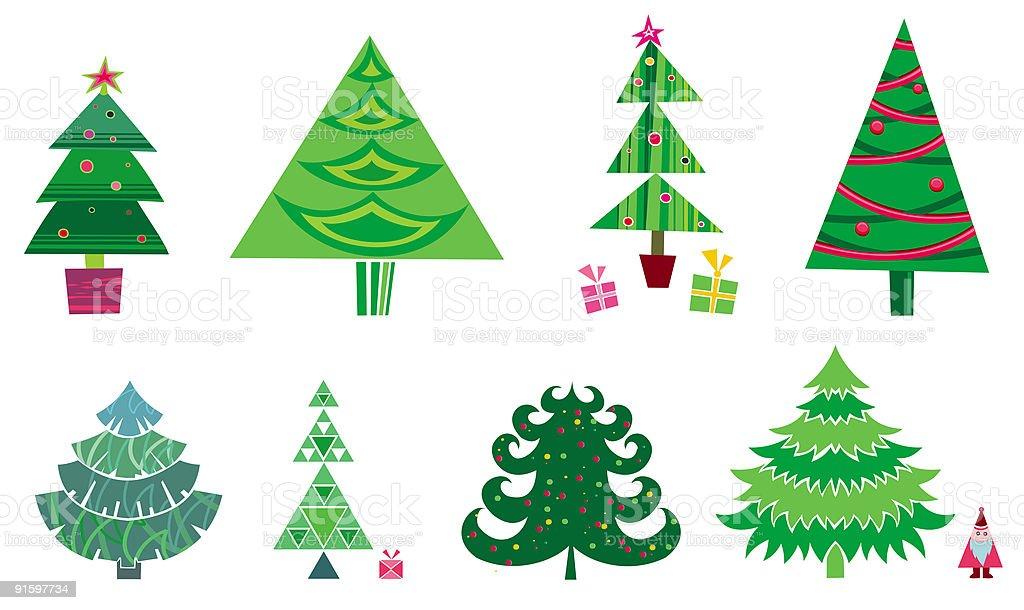 christmas tree - set of vector elements royalty-free stock vector art
