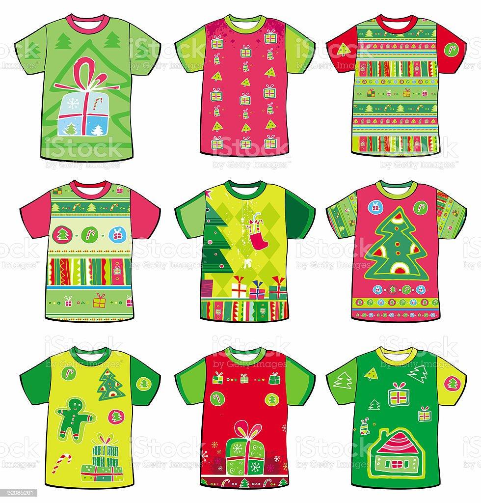 Christmas  t-shirts royalty-free stock vector art