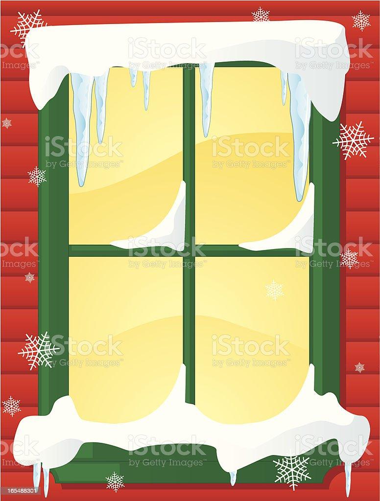 christmas window royalty-free stock vector art