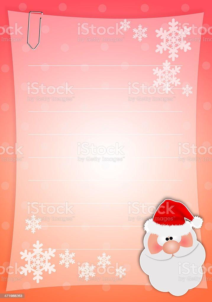 Christmas wishlist vector art illustration