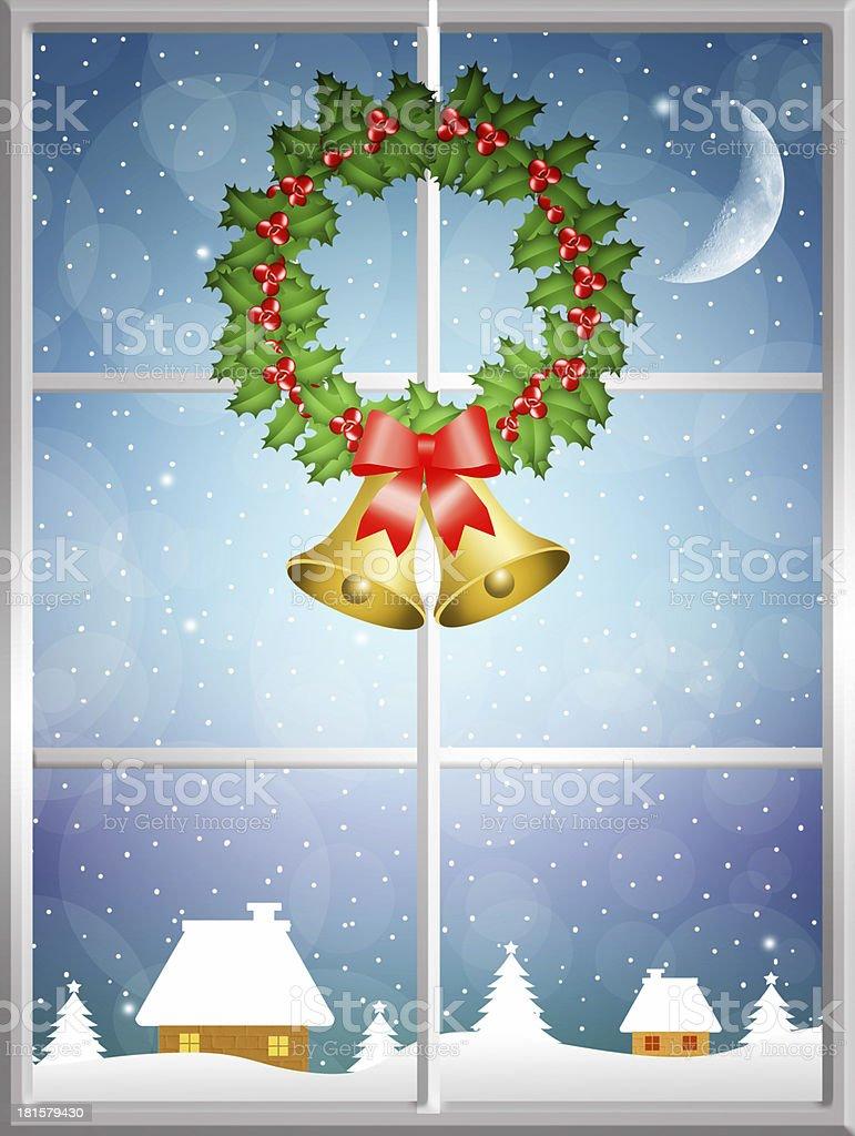 Christmas wreath royalty-free stock vector art