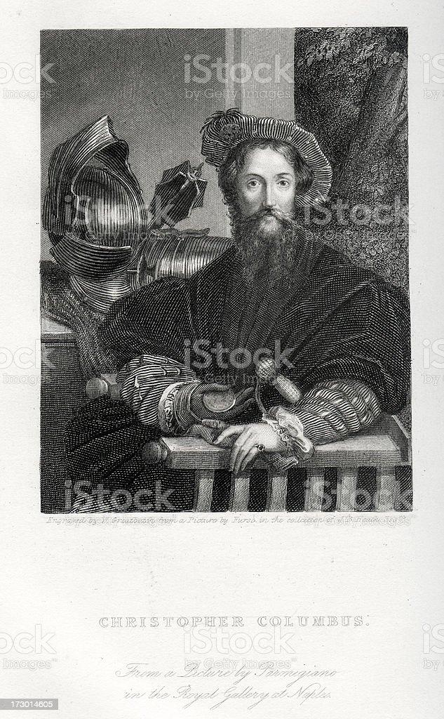 Christopher Columbus vector art illustration