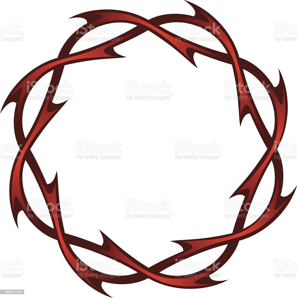 Christ's thorns royalty-free stock vector art