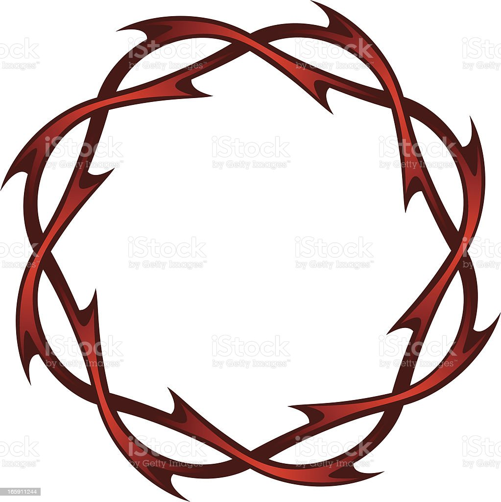 Christ's thorns vector art illustration