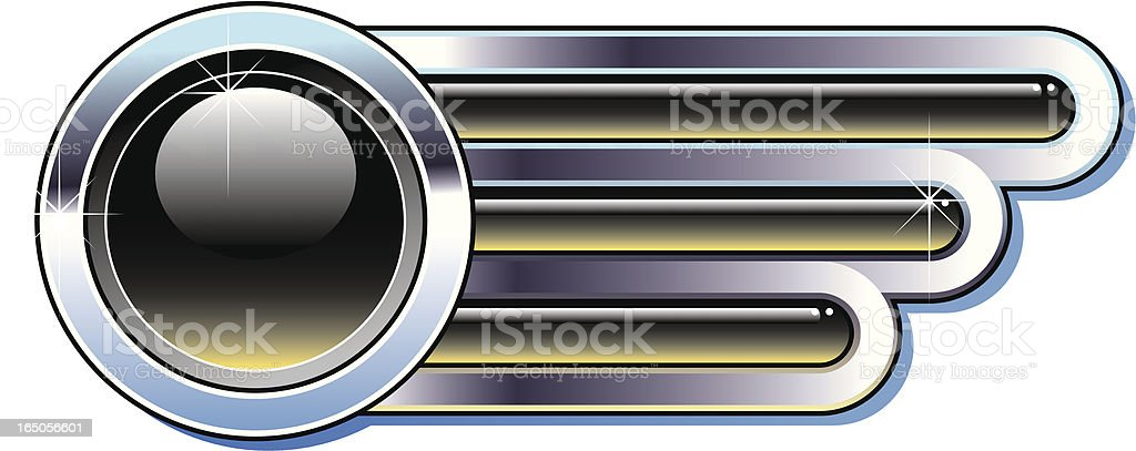 Chrome badge. royalty-free stock vector art