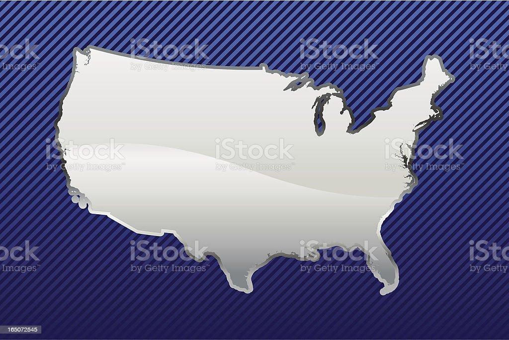 Chrome USA vector art illustration