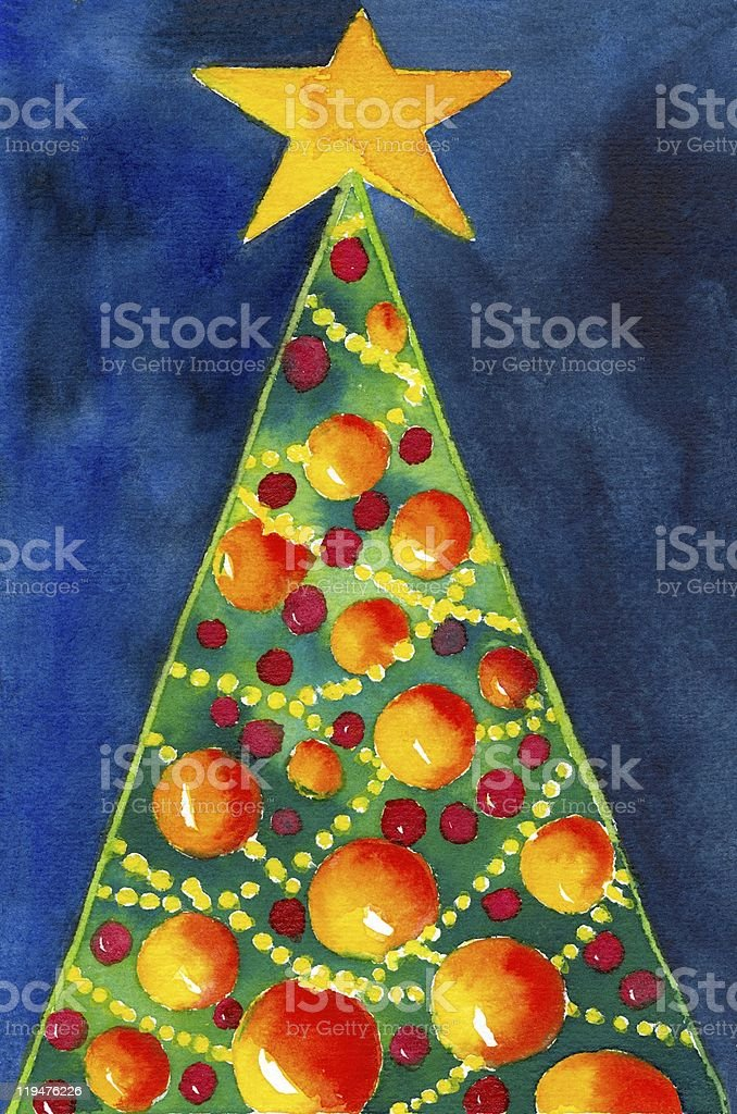 Chrsitmas Tree royalty-free stock vector art
