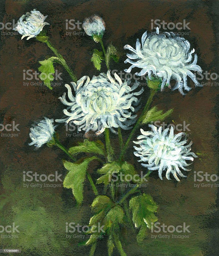 Chrysantheme Blumenstrauß Lizenzfreies vektor illustration