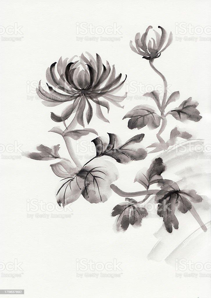 Chrysanthemum flower royalty-free stock vector art