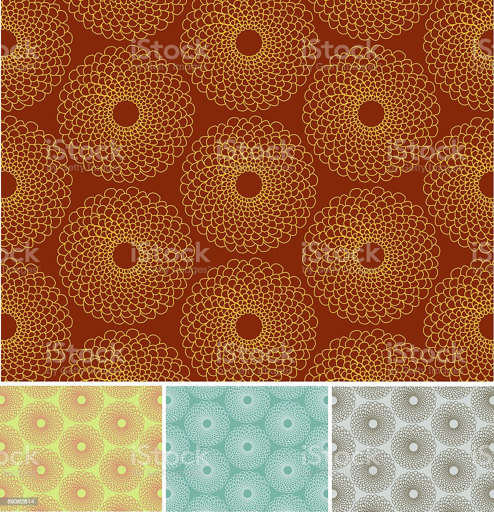 Chrysanthiums Flower Background royalty-free stock vector art