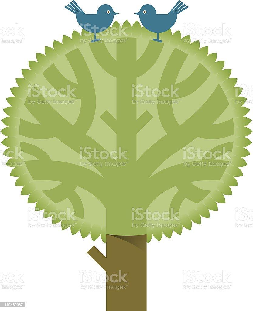 Chunky tree two royalty-free stock vector art