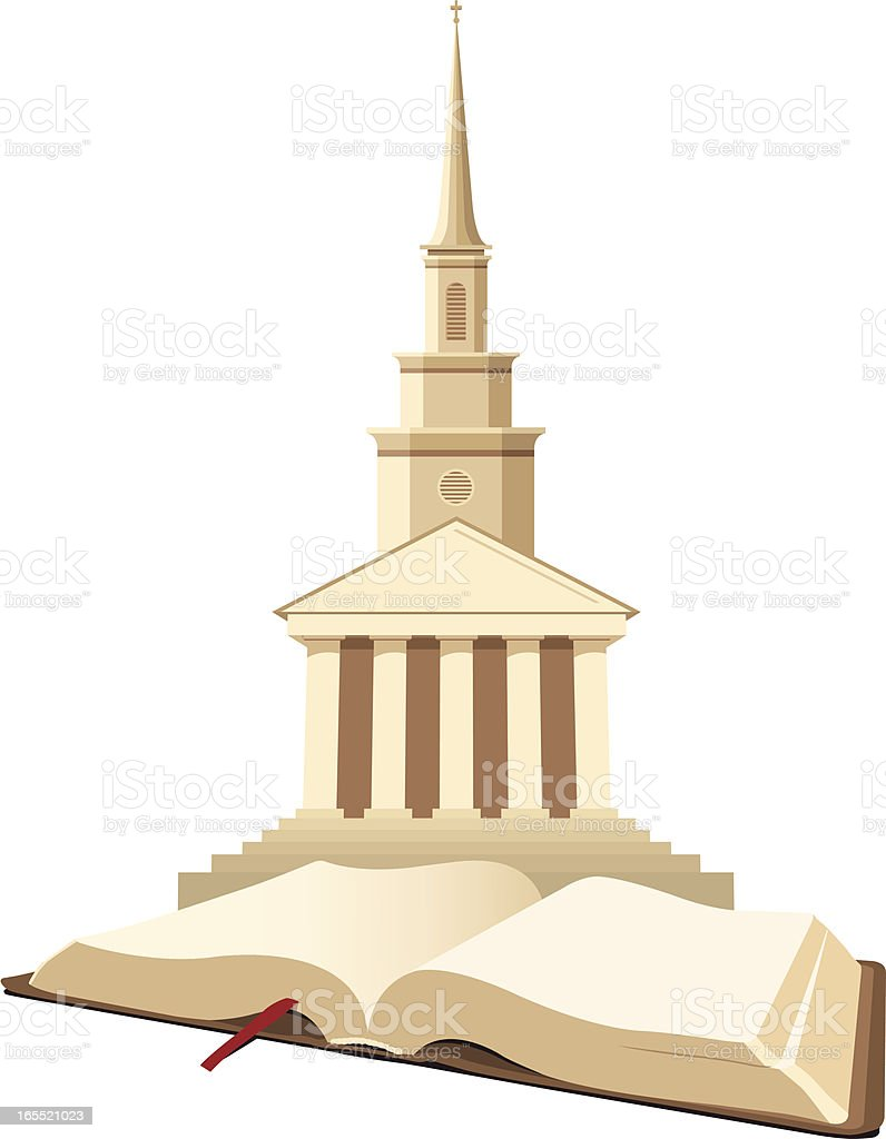 Church and Bible royalty-free stock vector art