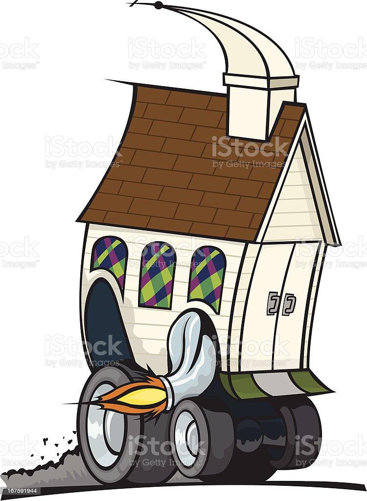 Church Driving/Moving royalty-free stock vector art