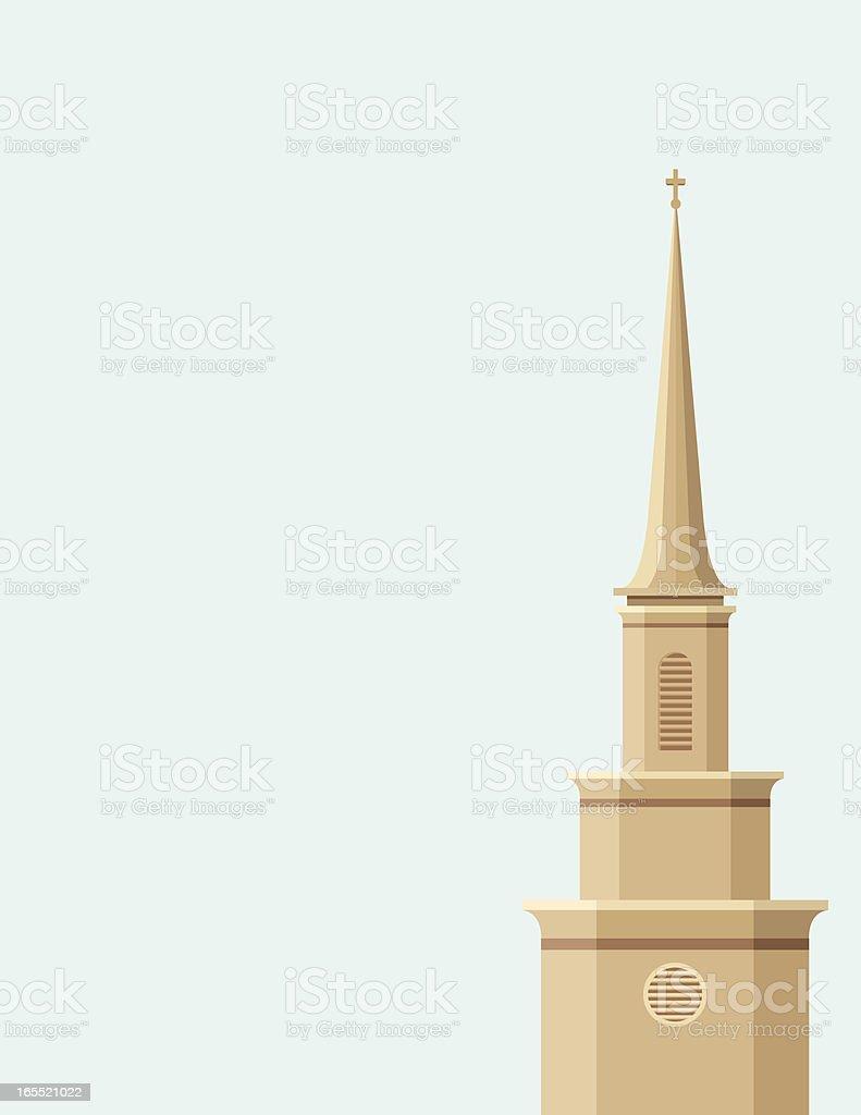 Church Steeple vector art illustration