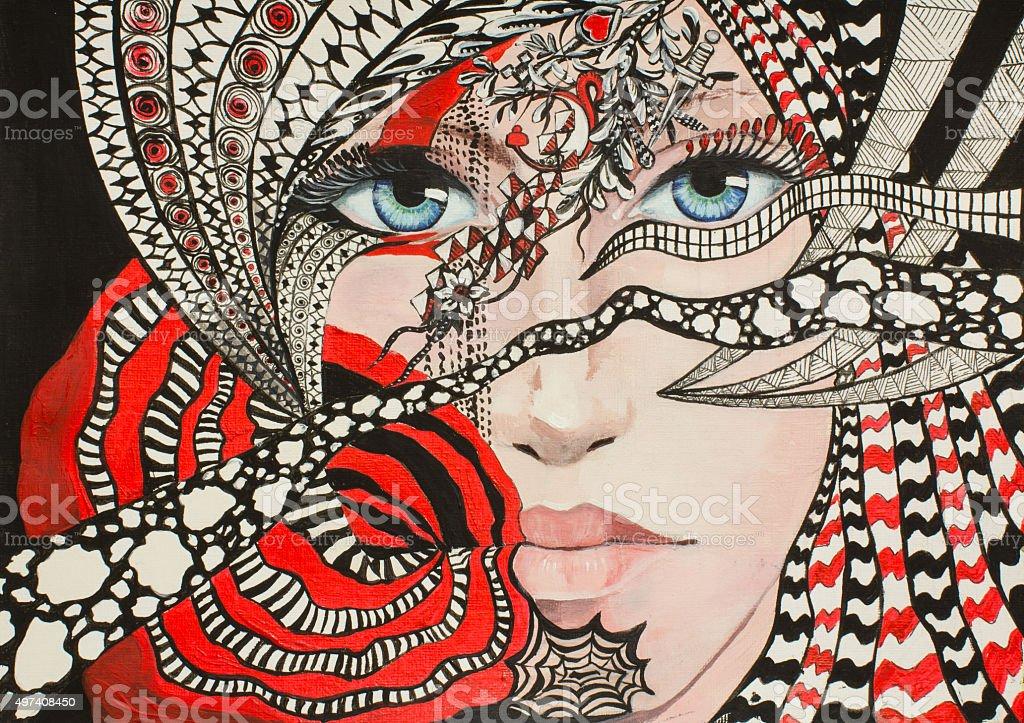 Cimaruta vector art illustration