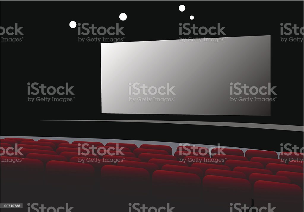 cinema interior vector royalty-free stock vector art