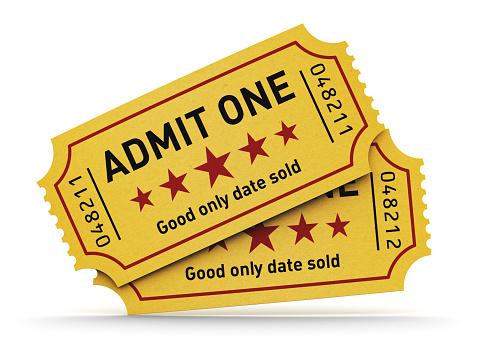 Movie Ticket Clip Art, Vector Images & Illustrations - iStock