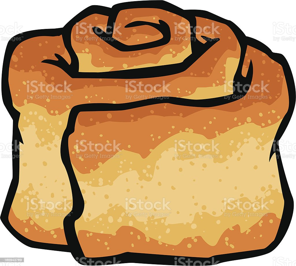 cinnamon bun royalty-free stock vector art