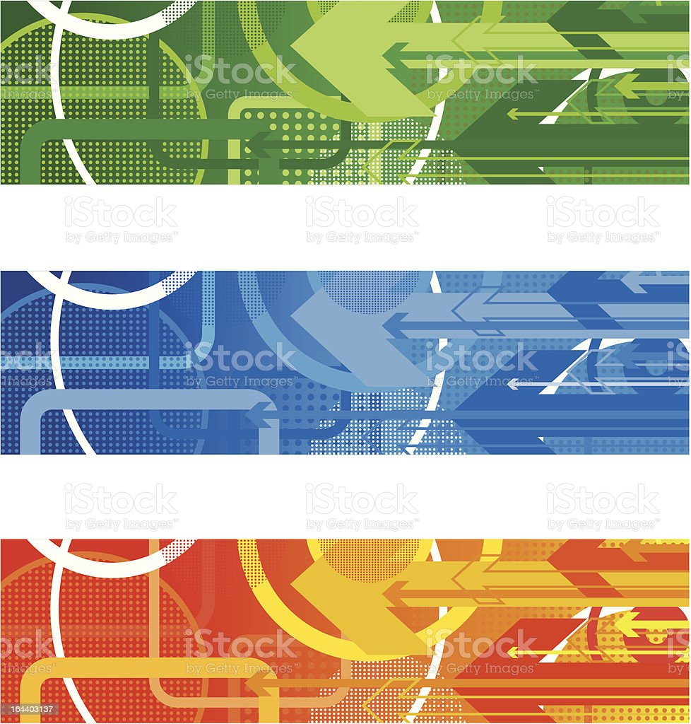 circle and arrow banners royalty-free stock vector art