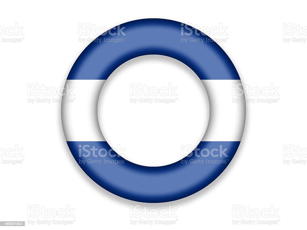 Circle Flag of El Salvador, Honduras and Nicaragua vector art illustration