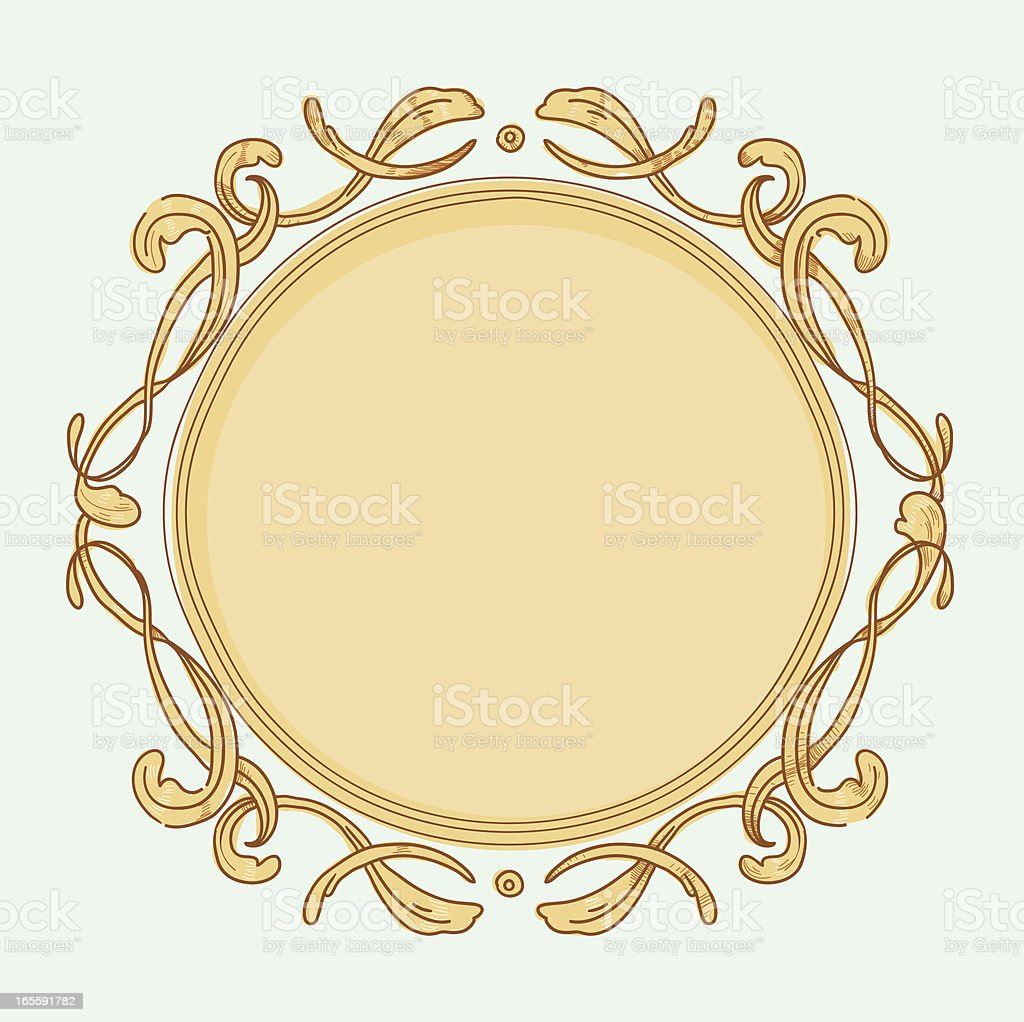 Circle Frame vector art illustration