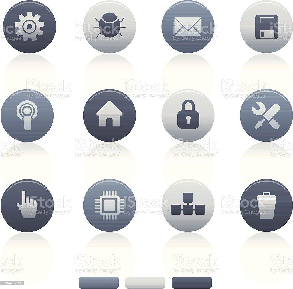 Mieszane szary koło ikony komputerowe stockowa ilustracja wektorowa royalty-free