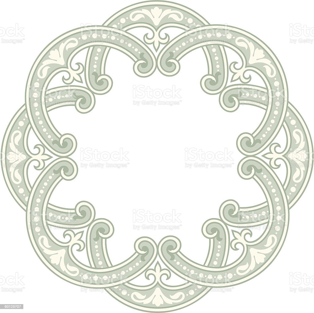 Circle Ornament-8-16-04 vector art illustration