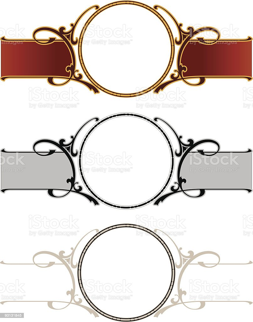 Circle / Scrolled Panel Design royalty-free stock vector art