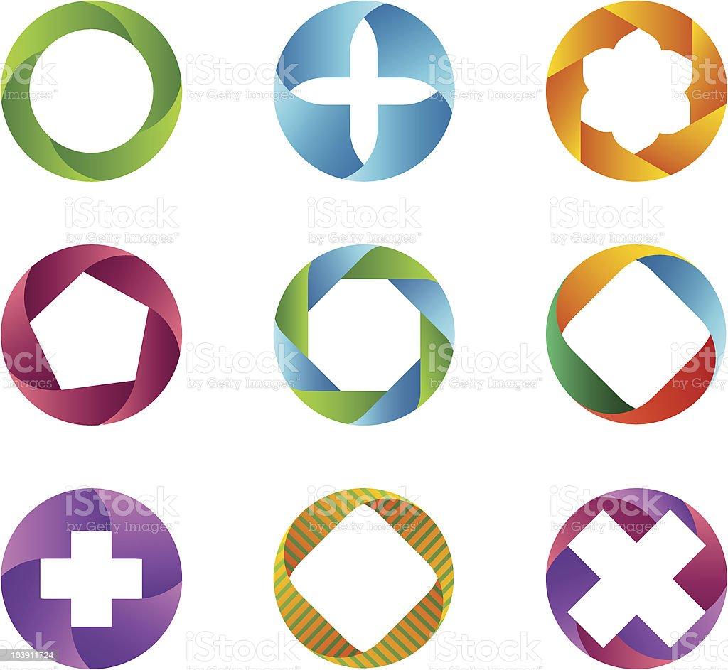 Circle set/design elements royalty-free stock vector art