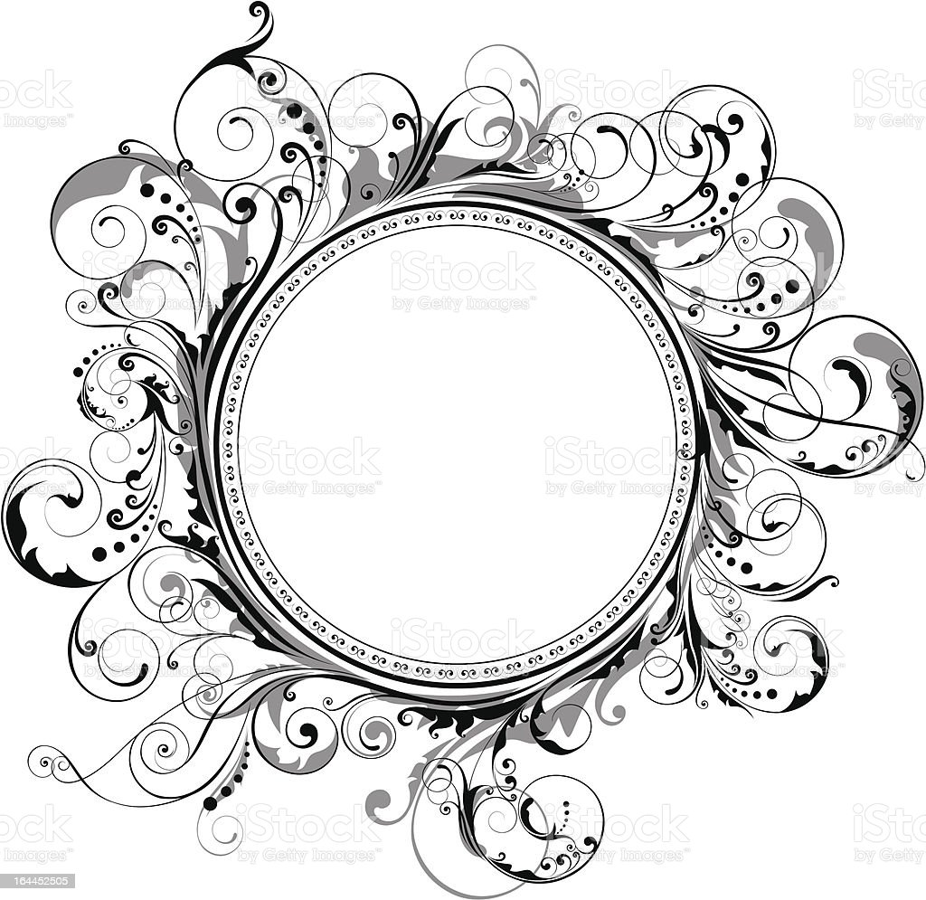Circle swirl frame royalty-free stock vector art