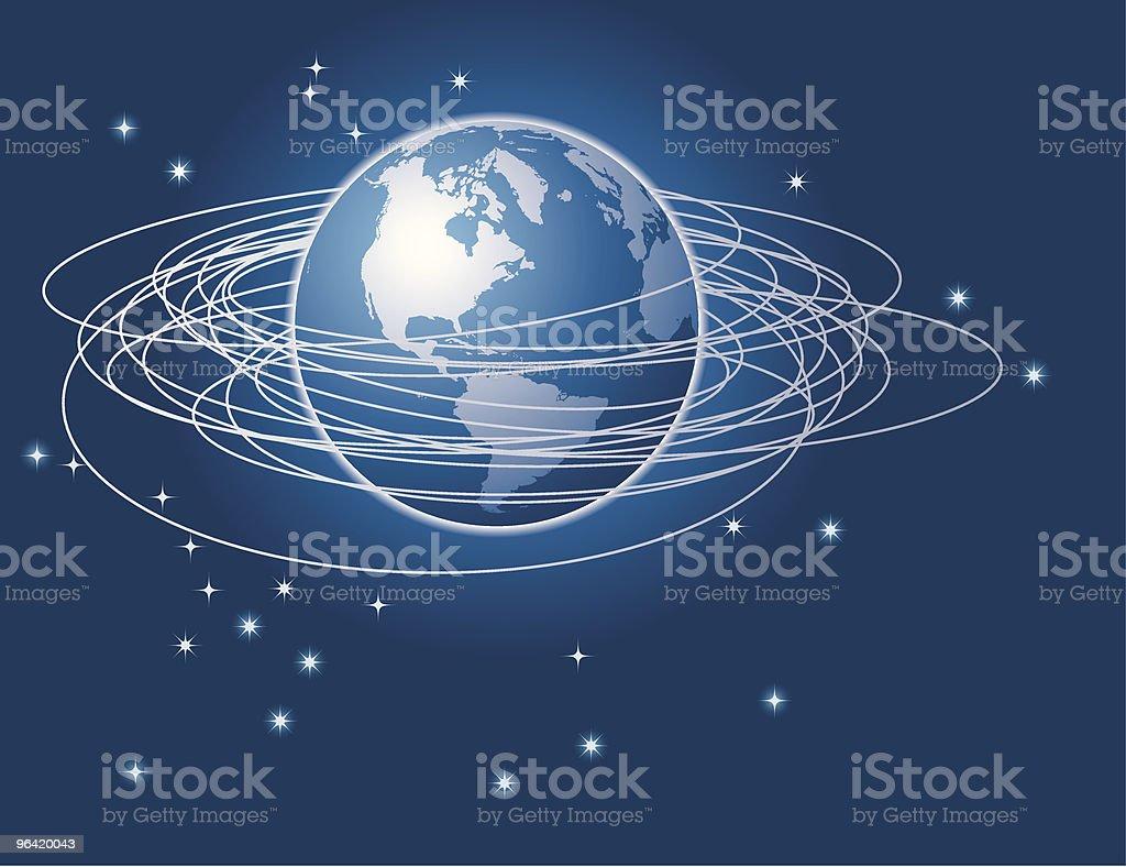 Circle the Globe vector art illustration