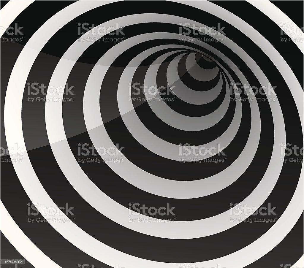Circle tunnel vector art illustration