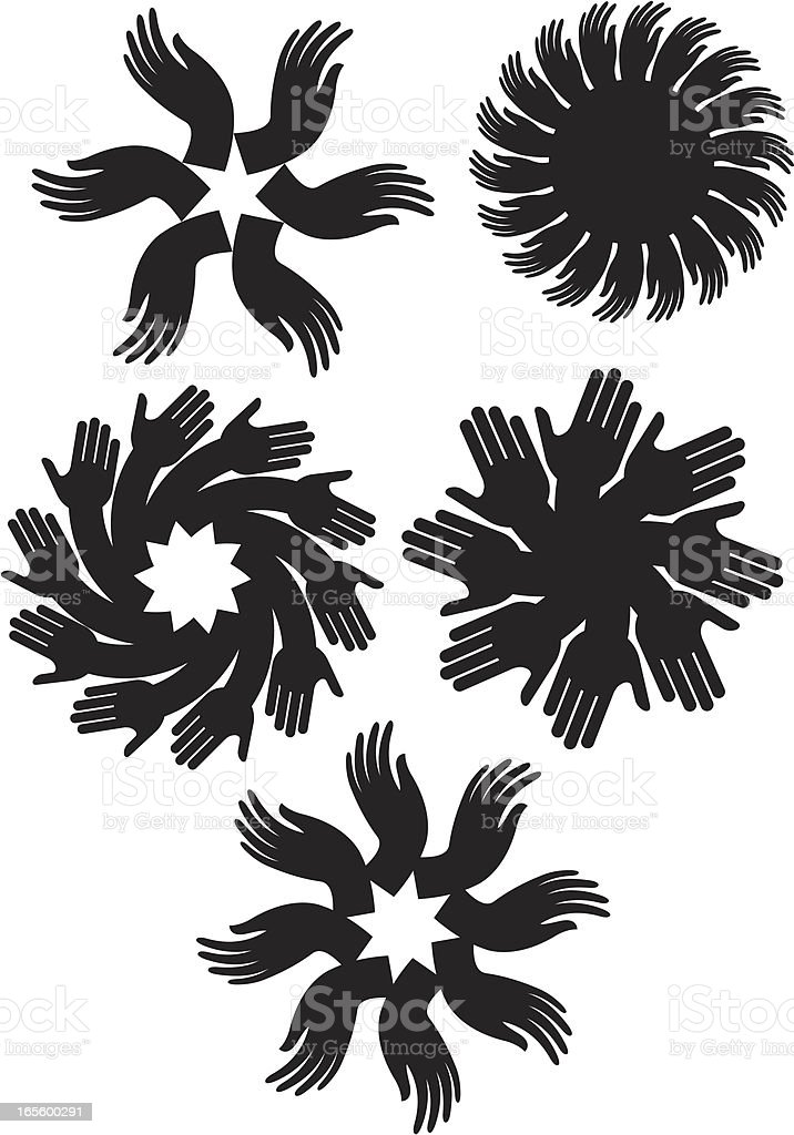 Circles of hands royalty-free stock vector art