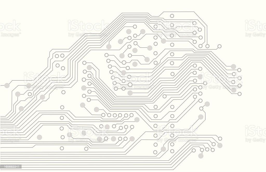 Circuit Background Vector Silhouette vector art illustration
